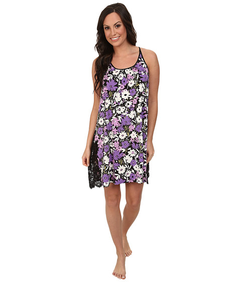 Midnight by Carole Hochman - Flourishing Florals Lace Embroidered Chemise (Flourishing Floral) Women
