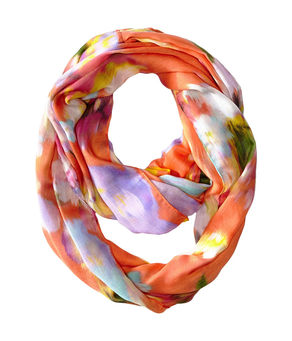 Echo Design - Ikat Floral Loop Scarf (Island Coral) Scarves