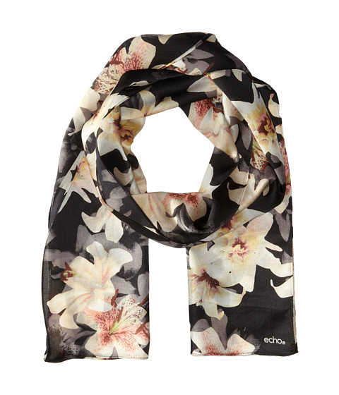 Echo Design - Spotty Lillies Scarf (Black) Scarves