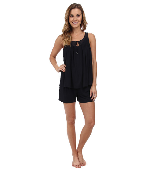 Midnight by Carole Hochman - Transparent Dreams Shorty Pajama Set (Midnight) Women's Pajama Sets