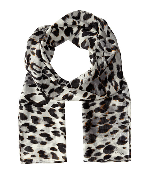 Echo Design - Cheetah Oblong Scarf (Black) Scarves