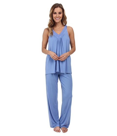 Midnight by Carole Hochman - Springtime Impressions Satin Neckline Pajama (Tropical Storm) Women