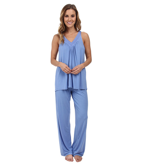 Midnight by Carole Hochman - Springtime Impressions Satin Neckline Pajama (Tropical Storm) Women's Pajama Sets