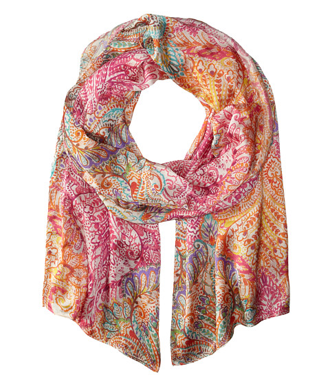 Echo Design - Painted Paisley Scarf (Fuchsia) Scarves