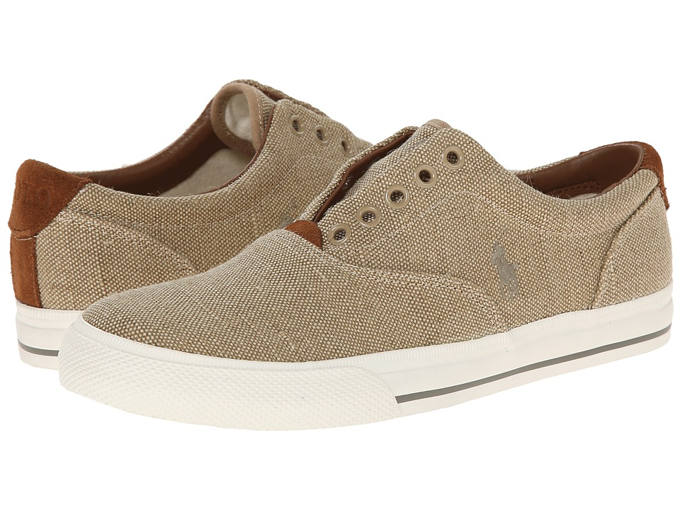 Polo Ralph Lauren - Vito (Tan Vintage Burlap) Men's Lace up casual Shoes