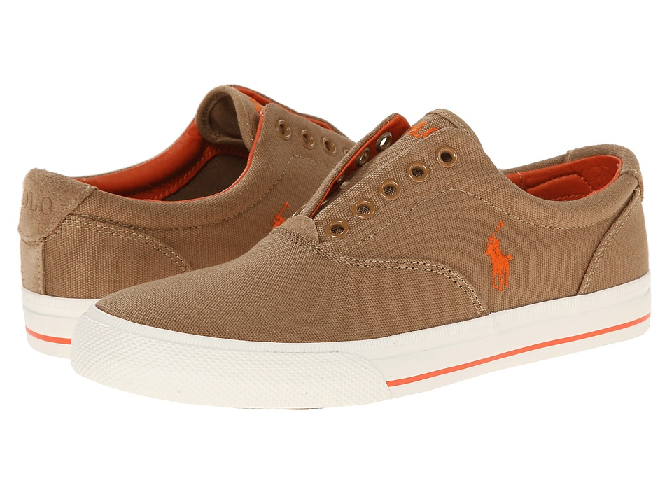 Polo Ralph Lauren - Vito (Adirondack Khaki Canvas/Suede) Men's Lace up casual Shoes