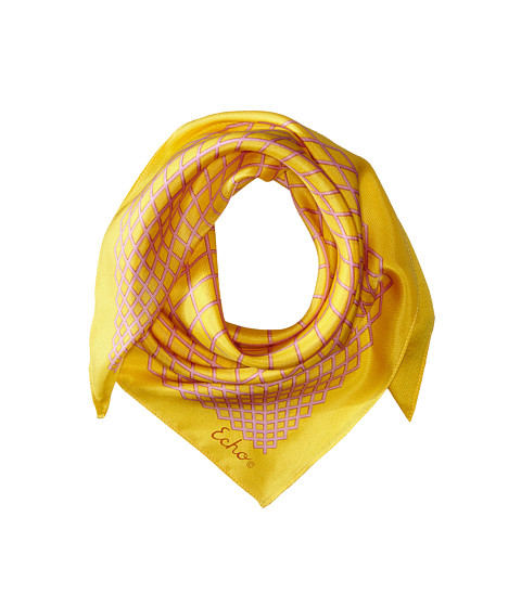 Echo Design - Vintage Geo Scarf (Bright Yellow) Scarves