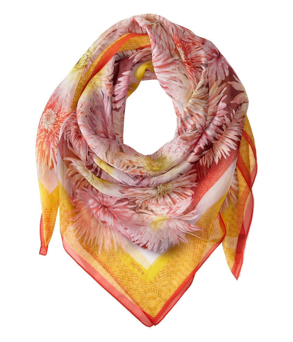 Echo Design - Exotic Floral Scarf (Island Coral) Scarves