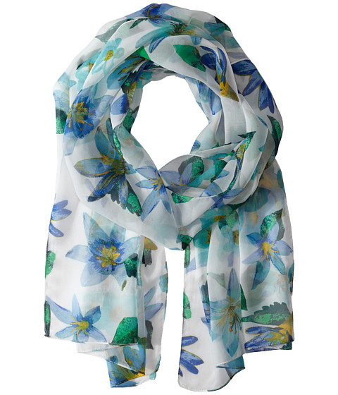 Echo Design - Spring Lillies Scarf (Turquoise) Scarves