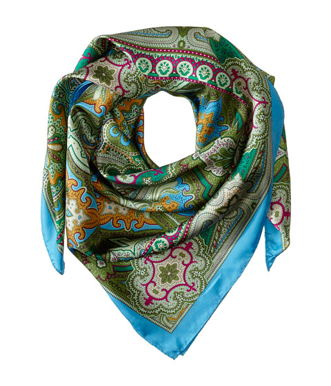 Echo Design - Paisley Square Scarf (Bright Orchid) Scarves