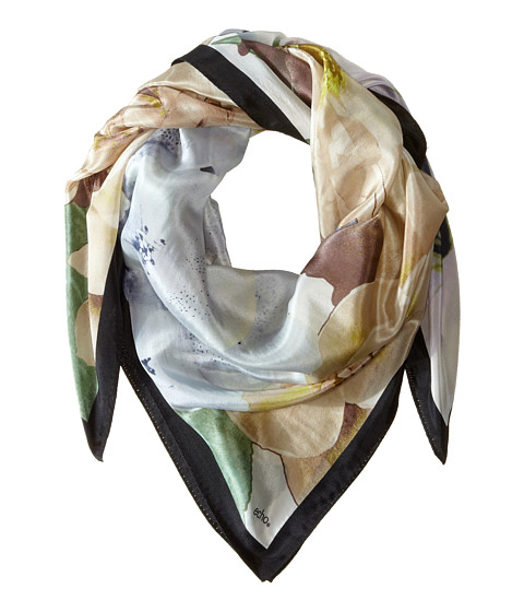 Echo Design - Spring Flowers Square Scarf (Black) Scarves
