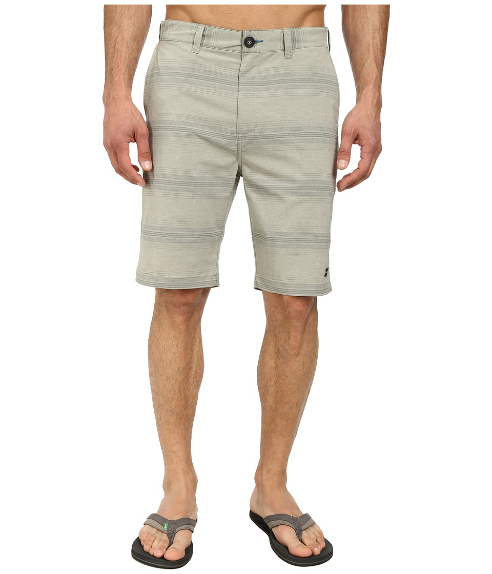 Billabong - Crossfire X Stripe Hybrid Short (Gravel) Men's Shorts