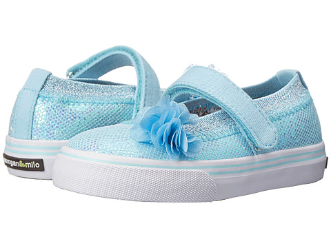Morgan&Milo Kids - Shimmer MJ Glitter (Toddler/Little Kid) (Light Blue) Girls Shoes