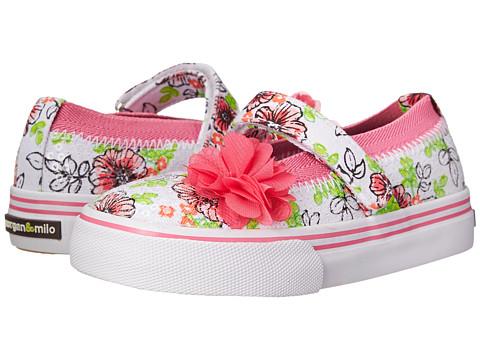 Morgan&Milo Kids - Melissa Sequined MJ (Toddler/Little Kid) (Floral) Girls Shoes