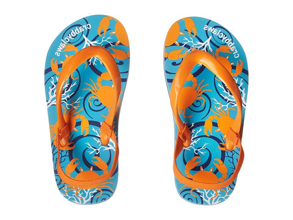 Crabbyclaws - Oceana (Toddler/Little Kid/Big Kid/Big Kid) (Orange/Aqua) Boys Shoes