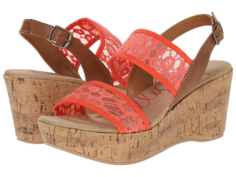 Jellypop - Rubin (Coral) Women's Wedge Shoes