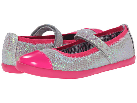 Morgan&Milo Kids - Olivia MJ Glitter (Toddler/Little Kid) (Silver) Girls Shoes