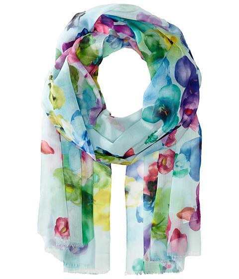 Echo Design - Spring Fling Floral Wrap Scarf (Turquoise) Scarves
