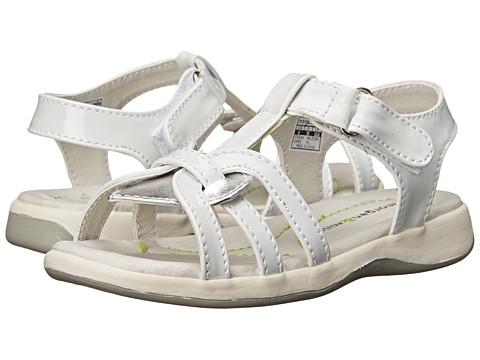 Morgan&Milo Kids - Kira Sandal Leather (Toddler/Little Kid) (White) Girls Shoes