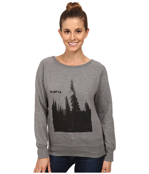 KAVU - Lounge Around (Gray) Women's Long Sleeve Pullover