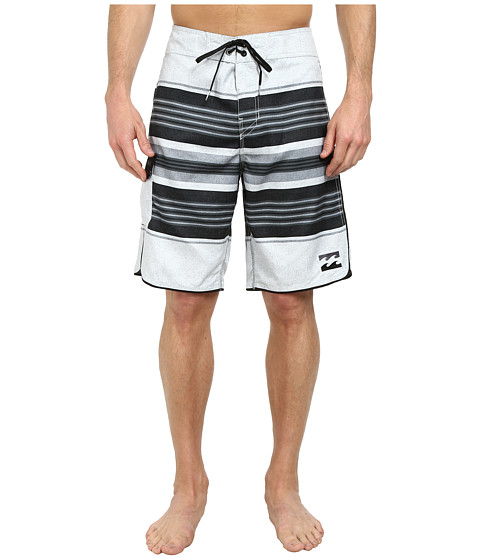 Billabong - All Day Stripe 21 Boardshort (Light Silver) Men's Swimwear