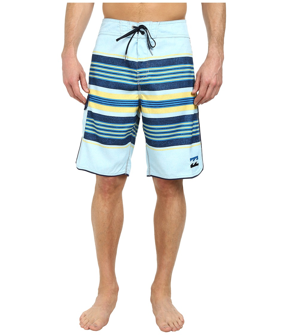 Billabong - All Day Stripe 21 Boardshort (Sky Blue) Men's Swimwear
