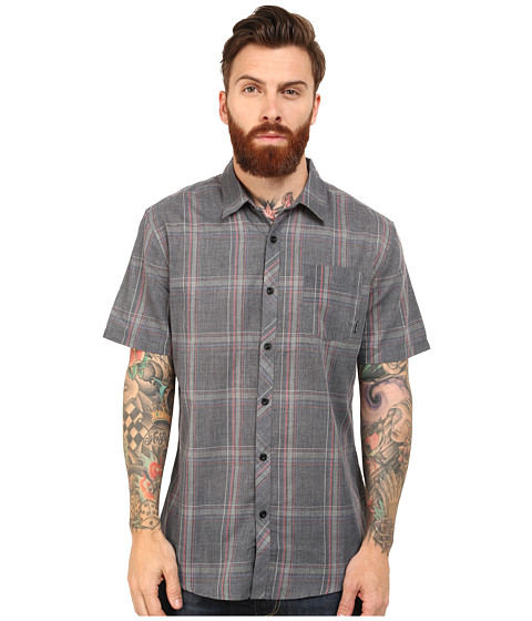 Billabong - Wide Open S/S Woven (Black) Men's Short Sleeve Button Up
