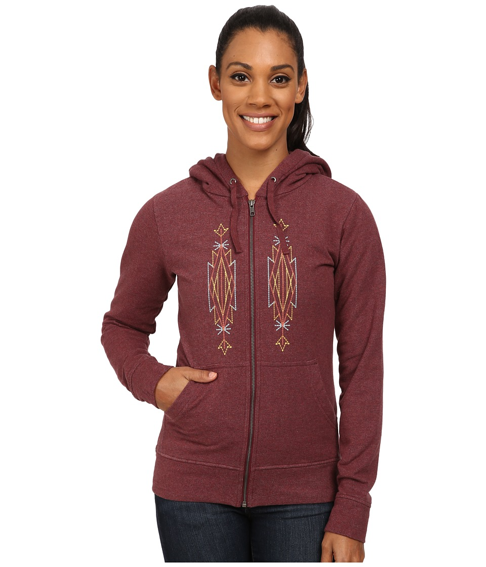 Patagonia - Desert Roots Mid Weight Full-Zip Hooded Sweatshirt (Oxblood Red) Women's Sweatshirt