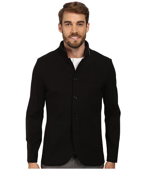 Kenneth Cole Sportswear - Ponte Blazer w/ Hidden Hood (Black) Men's Jacket