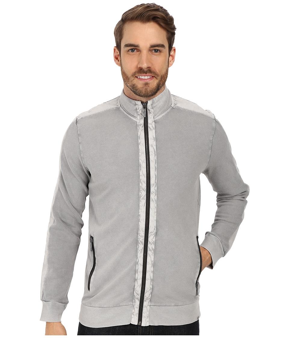 Kenneth Cole Sportswear - Pique Full Zip Jacket (Cloud) Men's Sweater