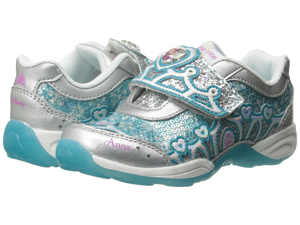 Stride Rite - Disneytm Anna Elsa A/C (Toddler/Little Kid) (Silver/Turquoise) Girl's Shoes