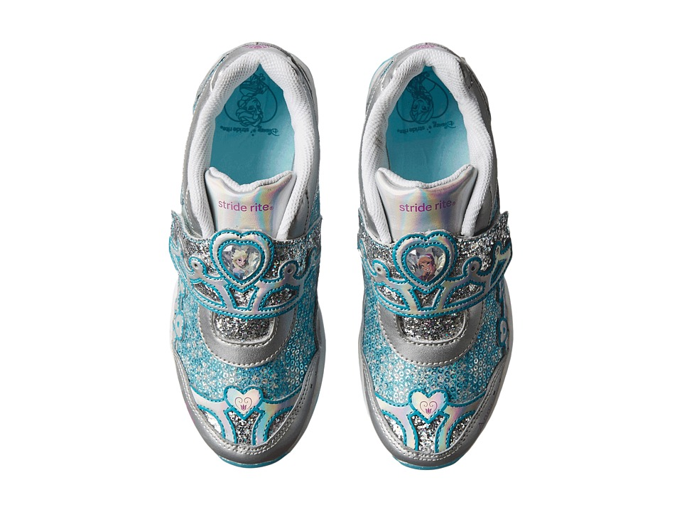 Stride Rite - Disney Anna Elsa A/C (Little Kid) (Silver/Turquoise) Girl's Shoes