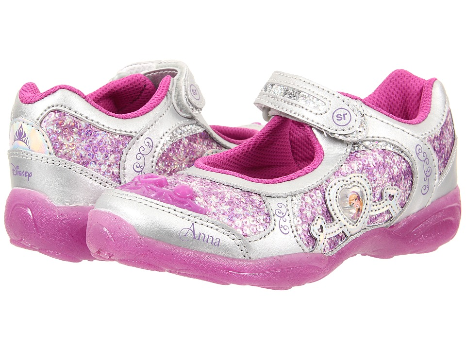 Stride Rite - Disney Anna Elsa MJ (Little Kid) (Magenta) Girl's Shoes