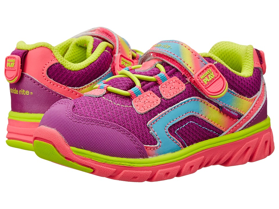Stride Rite - M2P Baby Myra (Toddler) (Pink/Lime) Girl's Shoes