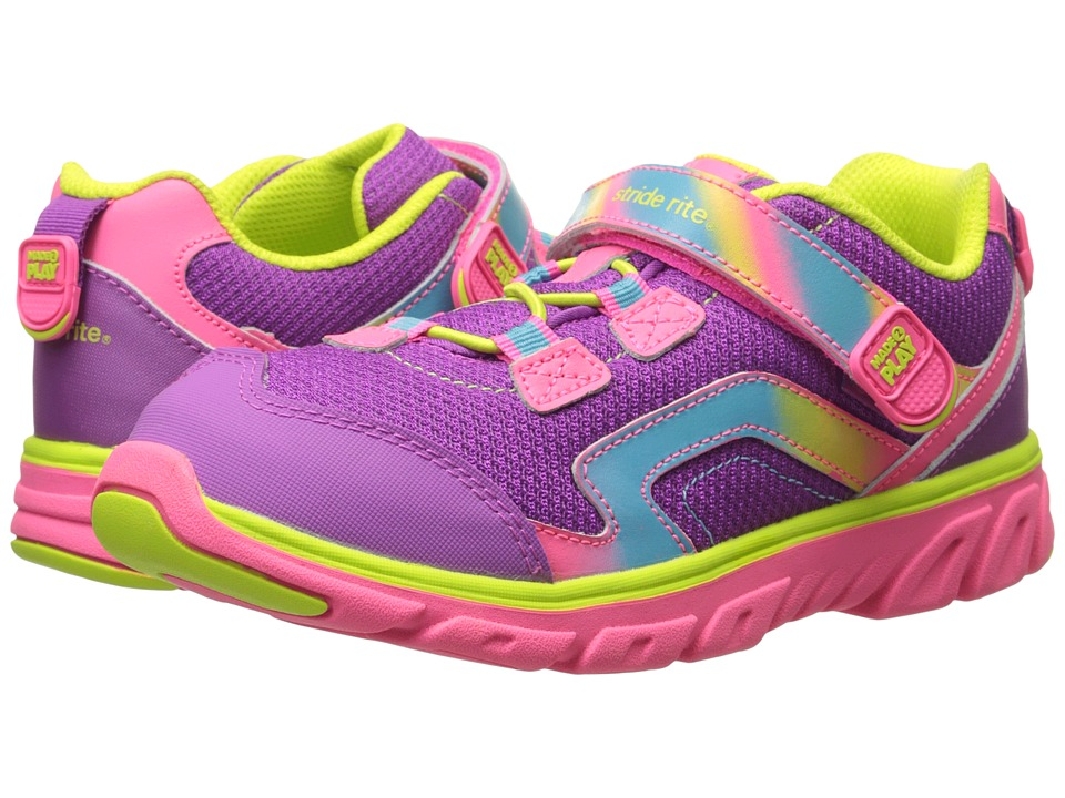Stride Rite - M2P Myra (Little Kid) (Pink/Lime) Girl's Shoes