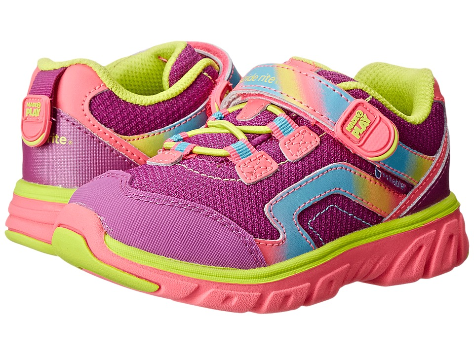 Stride Rite - M2P Myra (Toddler/Little Kid) (Pink/Lime) Girl's Shoes