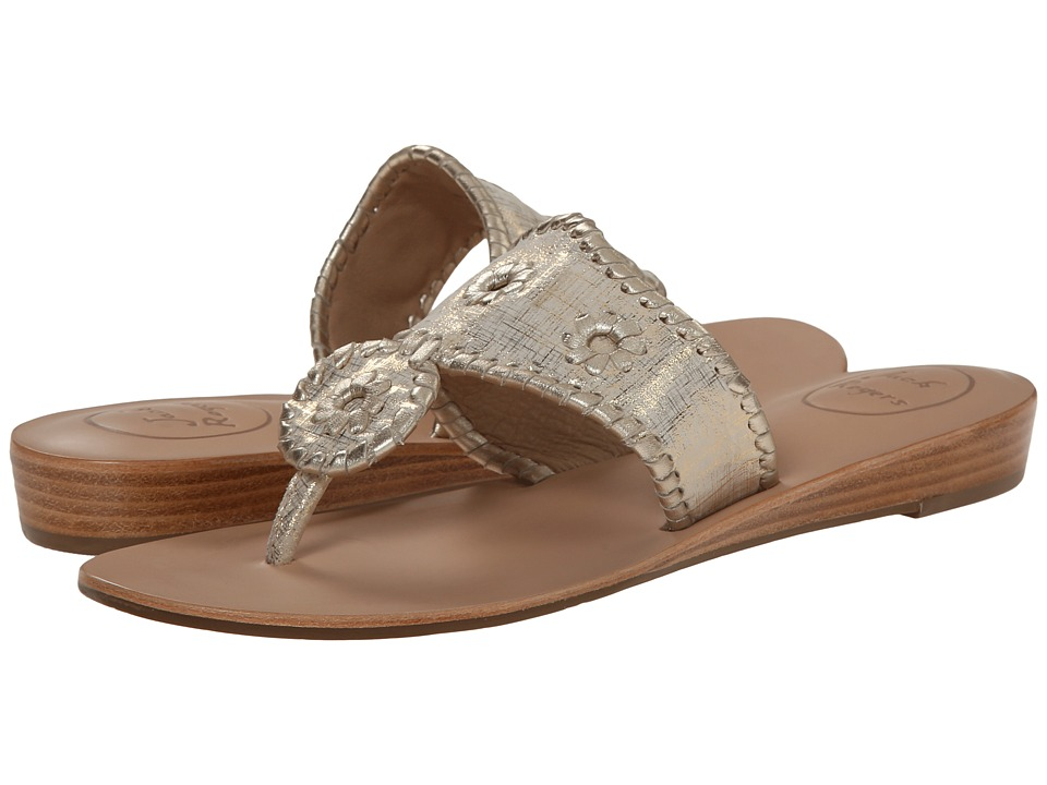 Jack Rogers - Capri Etched (Platinum) Women's Sandals