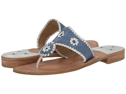 Jack Rogers - Jack's Raffia (Ocean Raffia/White) Women's Sandals