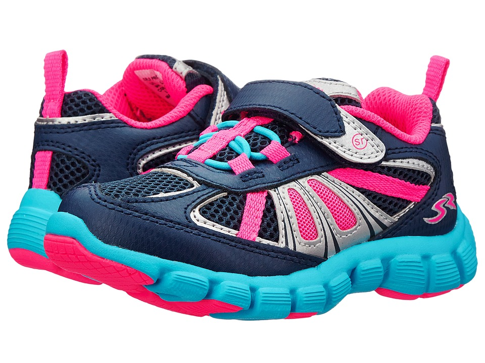 Stride Rite - Propel 2 A/C (Toddler/Little Kid) (Navy/Pink) Girl