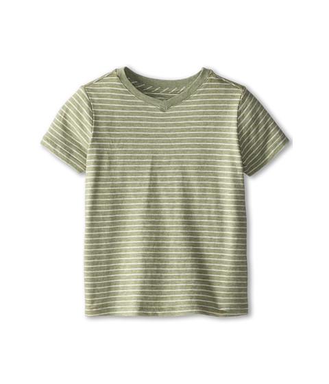 Vince Kids - Favorite V-Neck Tee (Toddler/Little Kids) (Heather Lotus Stripe) Boy's T Shirt