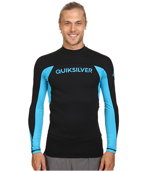 Quiksilver - Performer Long Sleeve Rashguard Surf Tee (Black/Hawaiian Ocean) Men