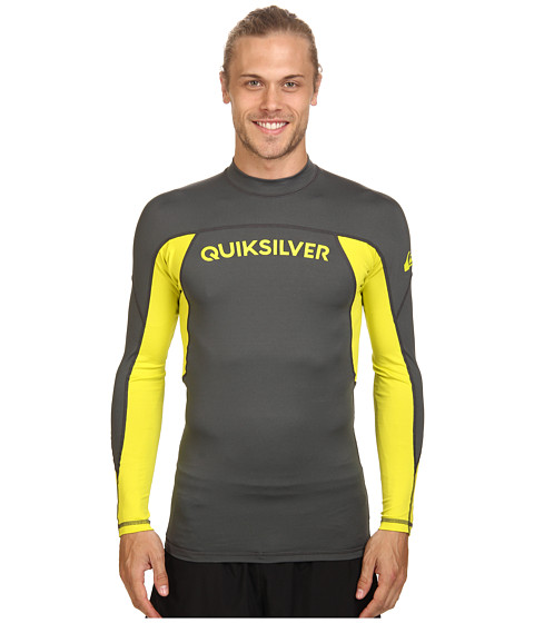 Quiksilver - Performer Long Sleeve Rashguard Surf Tee (Dark Shadow/Sulphur Springs) Men