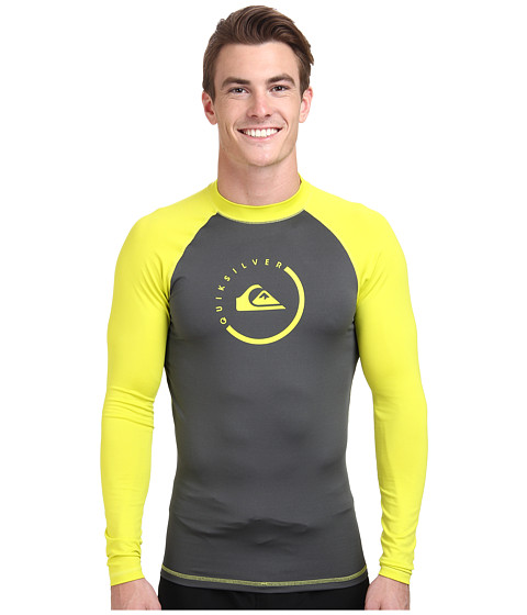 Quiksilver - Lock Up Long Sleeve Rashguard Surf Tee (Dark Shadow/Sulphur Springs) Men's Swimwear