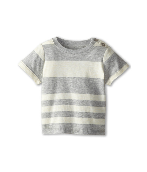 Vince Kids - Stripe Tee (Infant) (Heather Steel Stripe) Boy