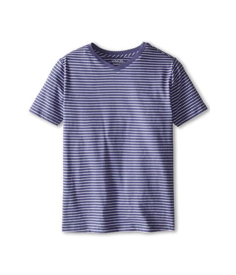 Vince Kids - Favorite V-Neck Tee (Big Kids) (Blue Moon Stripe) Boy's Short Sleeve Pullover