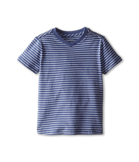Vince Kids - Favorite V-Neck Tee (Toddler/Little Kids) (Blue Moon Stripe) Boy