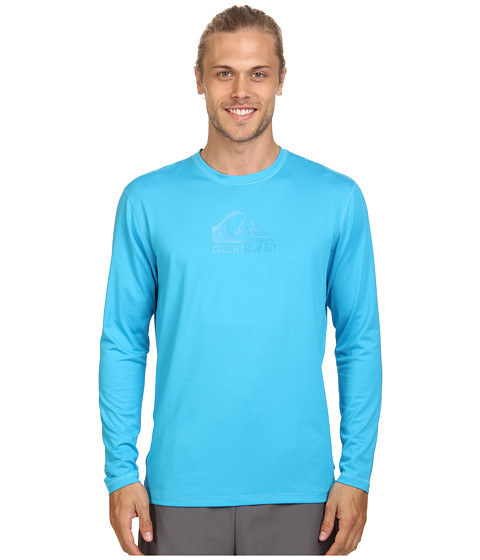 Quiksilver - Solid Streak Long Sleeve Rashguard Surf Tee (Hawaiian Ocean) Men's Swimwear