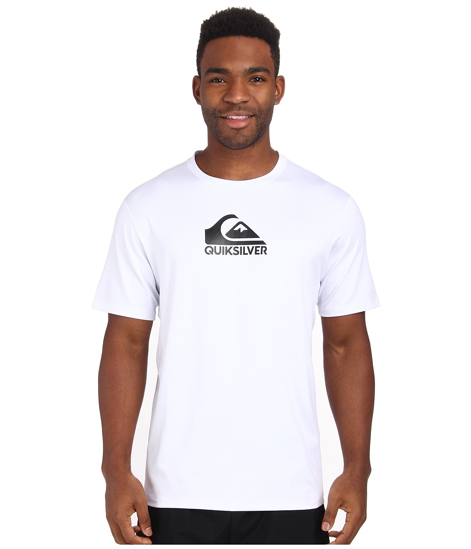 Quiksilver - Solid Streak Short Sleeve Rashguard Surf Tee (White) Men's Swimwear
