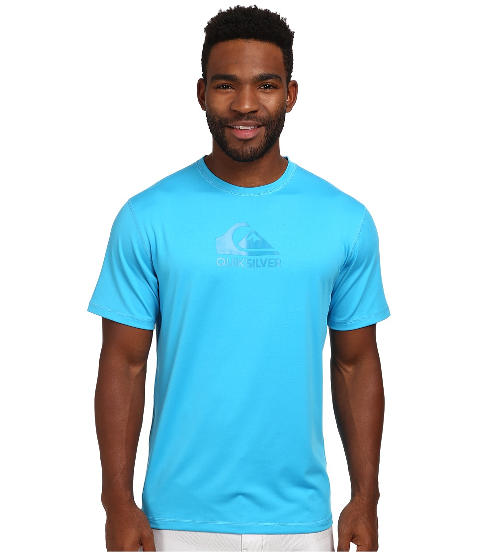 Quiksilver - Solid Streak Short Sleeve Rashguard Surf Tee (Hawaiian Ocean) Men's Swimwear