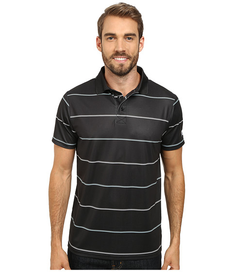 Cinch - Athletic Poly Spandex Short Sleeve Tee Shirt Striped (Black) Men's Short Sleeve Pullover